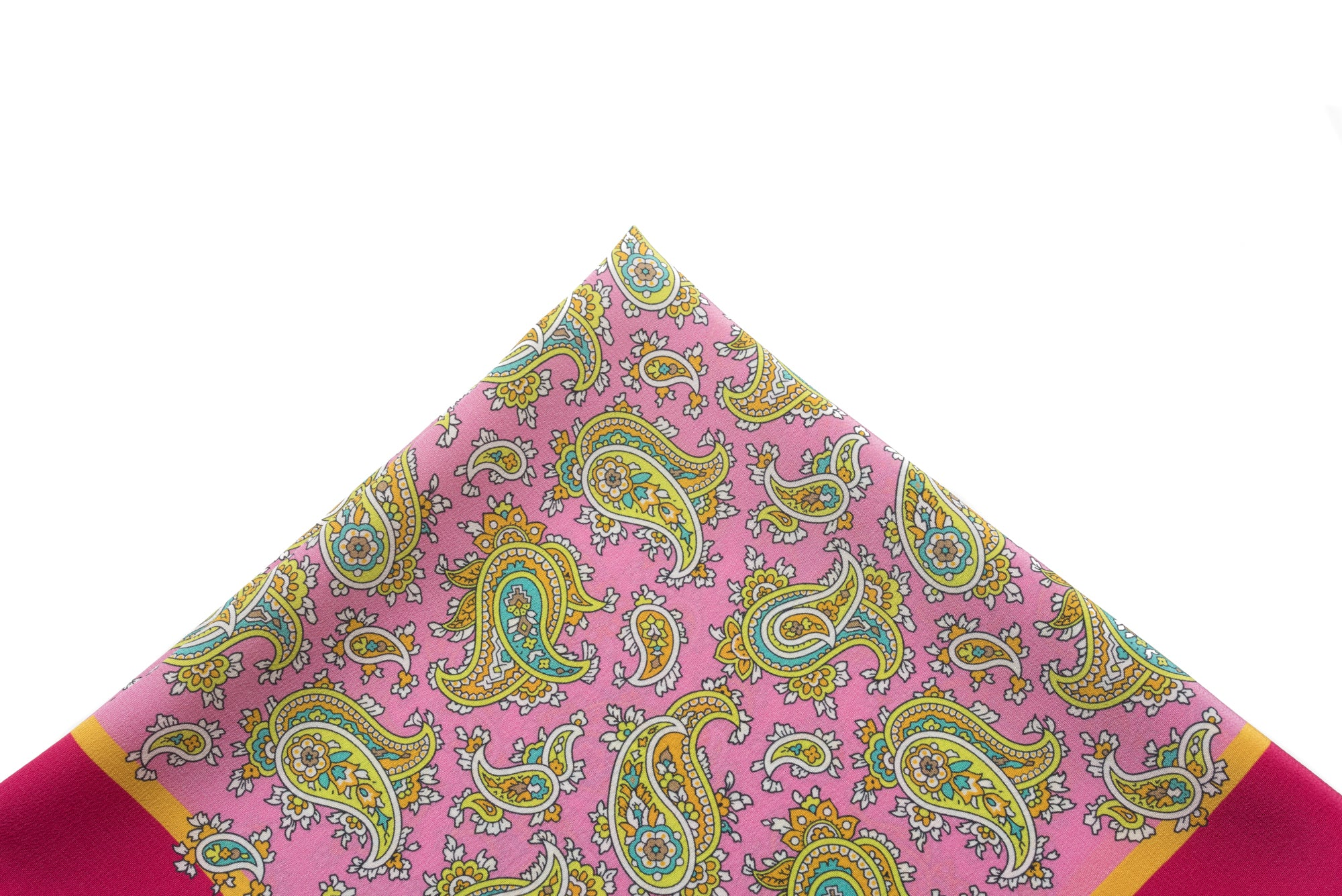 Pocket Square Pink - Colorful Paisley