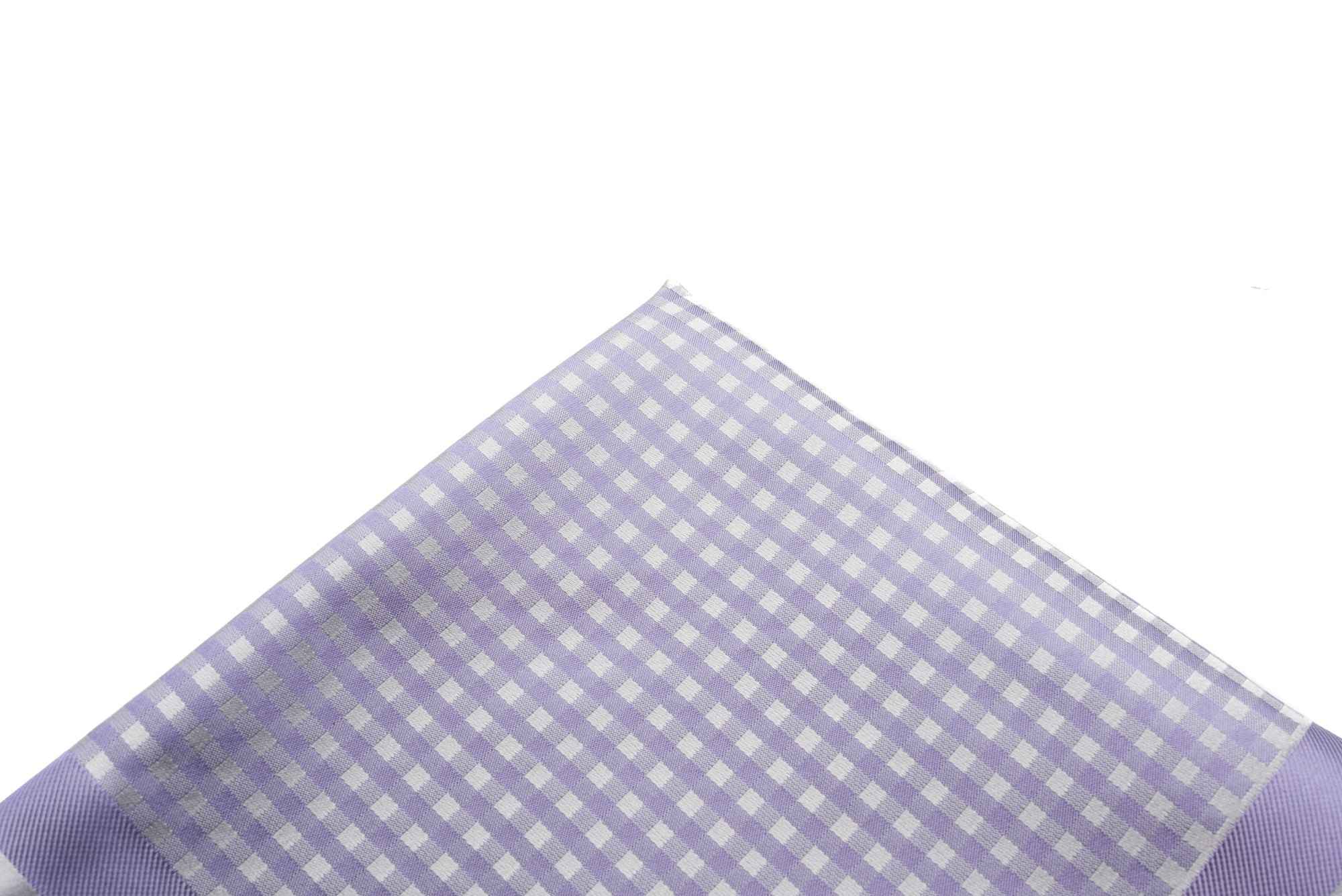 Pocket Square Purple - Silver Woven