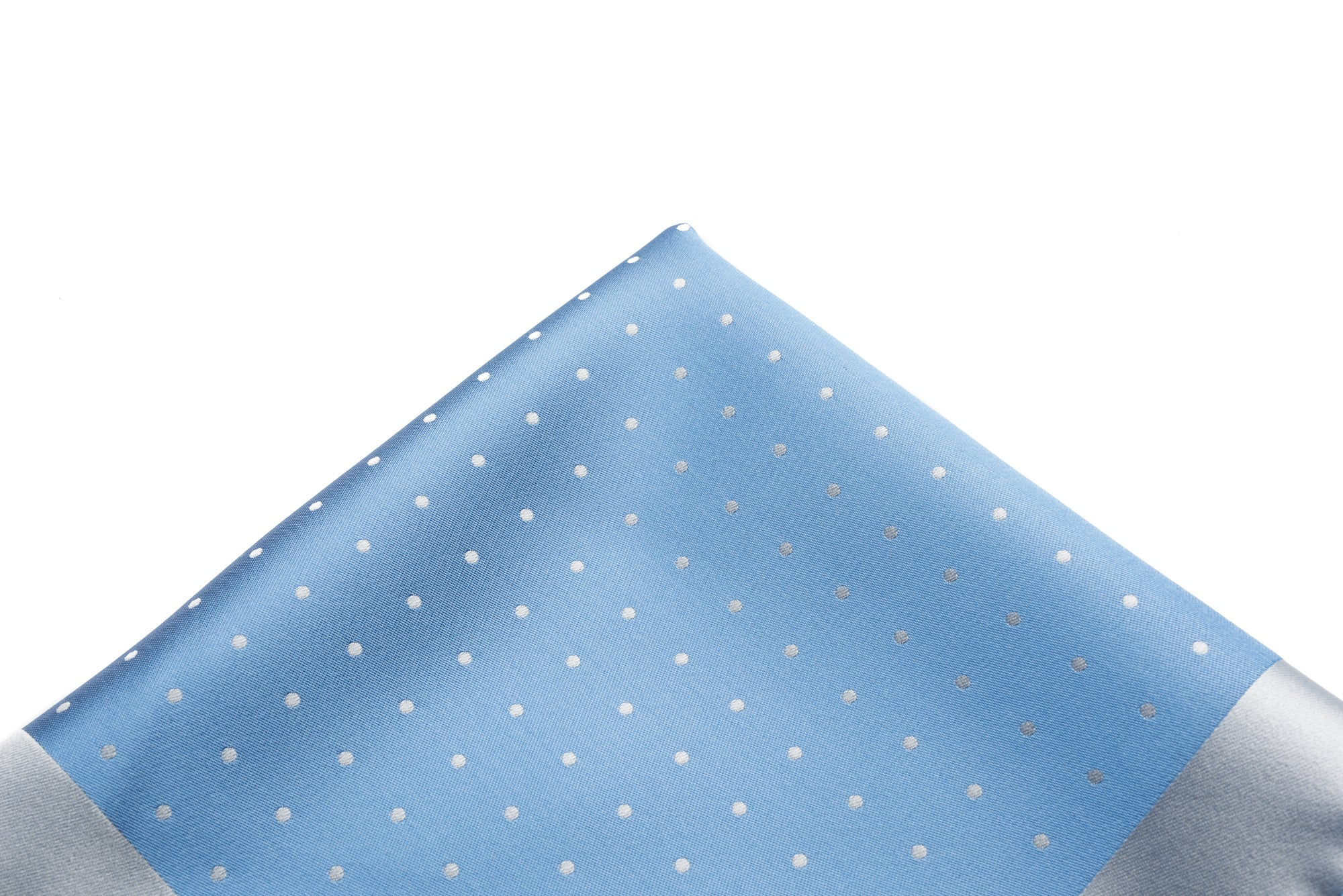Pocket Square Blue - Silver Dot