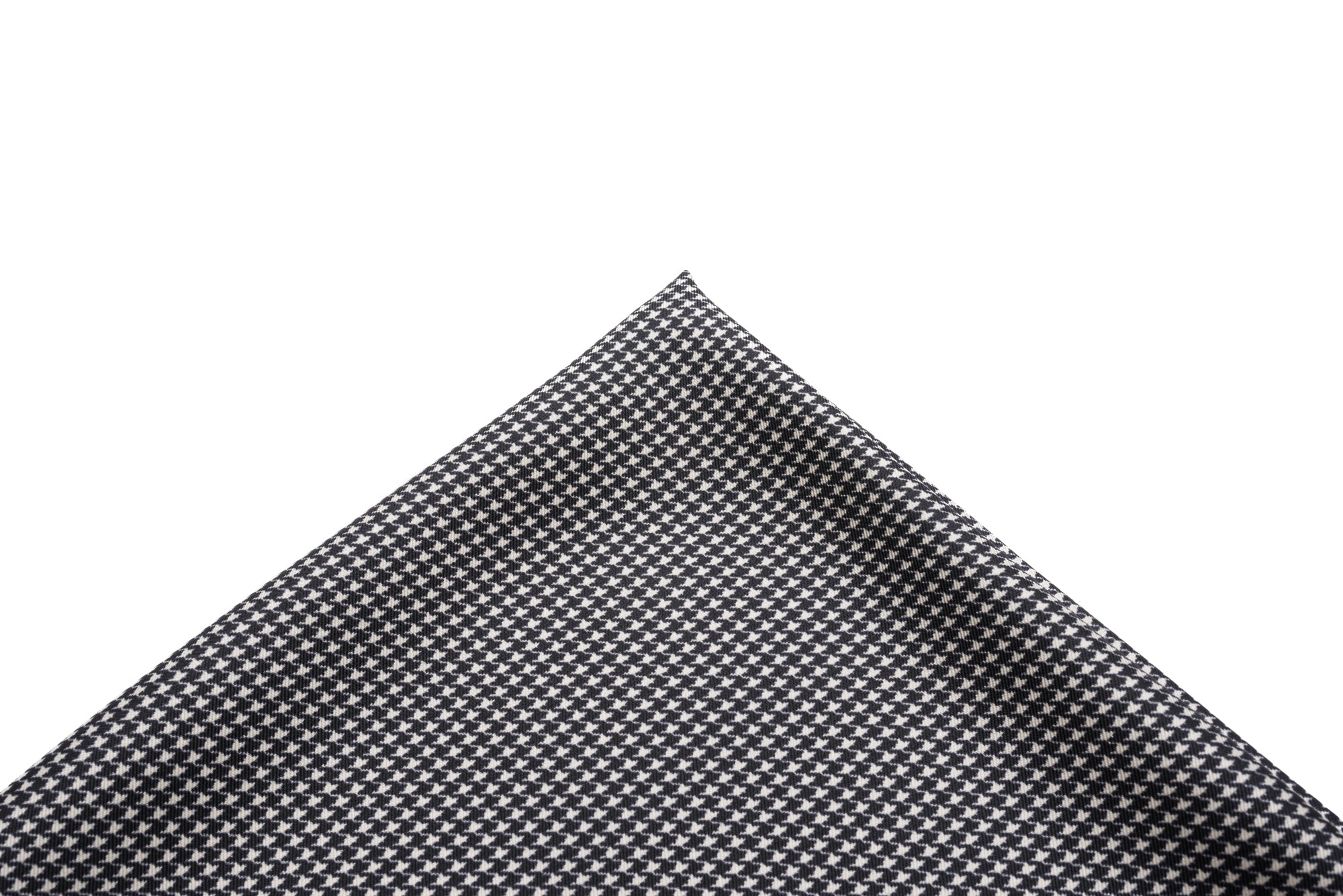 Pocket Square Black/White Micro Houndstooth