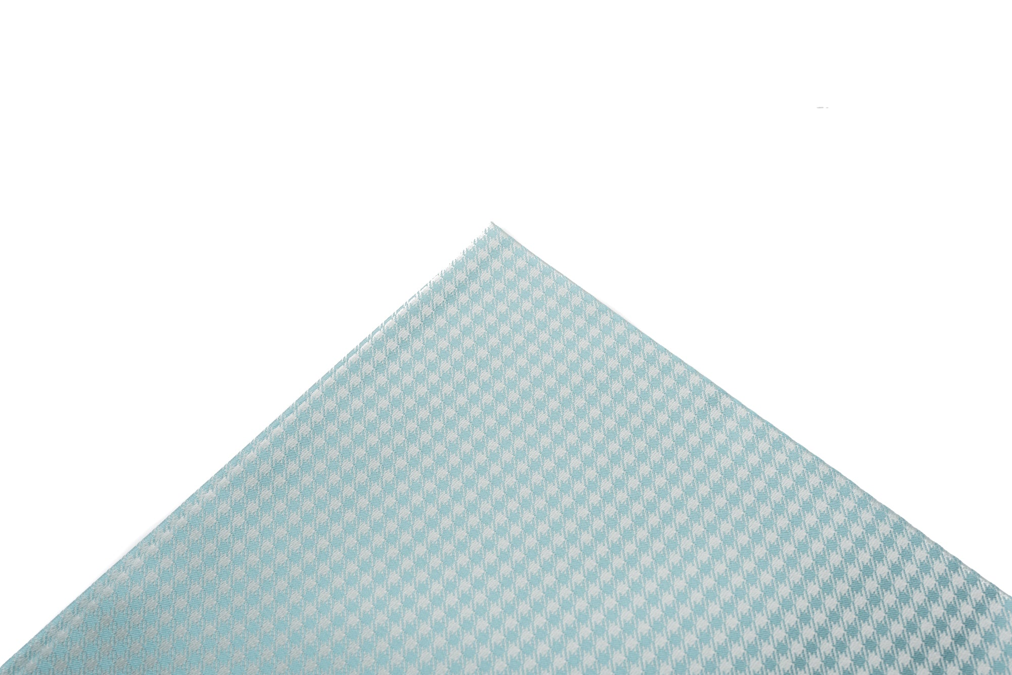 Pocket Square Blue Micro Houndstooth