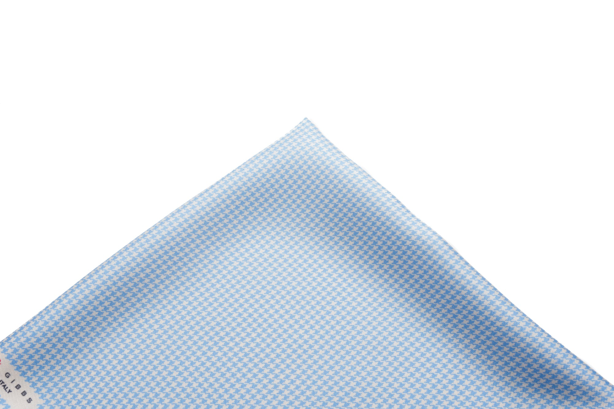 Pocket Square Light Blue - Micro Houndstooth