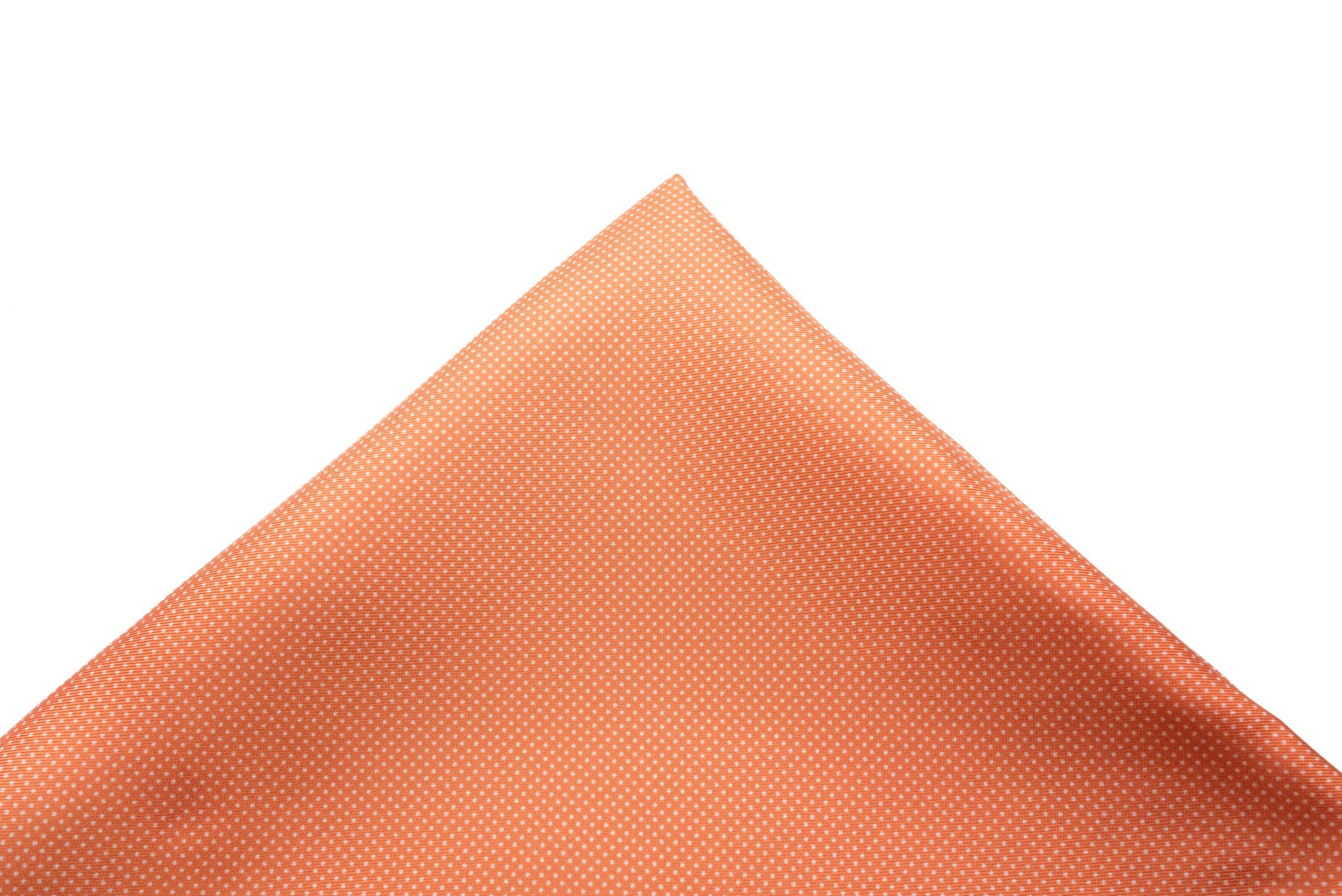 Pocket Square Orange - White Micro Dot