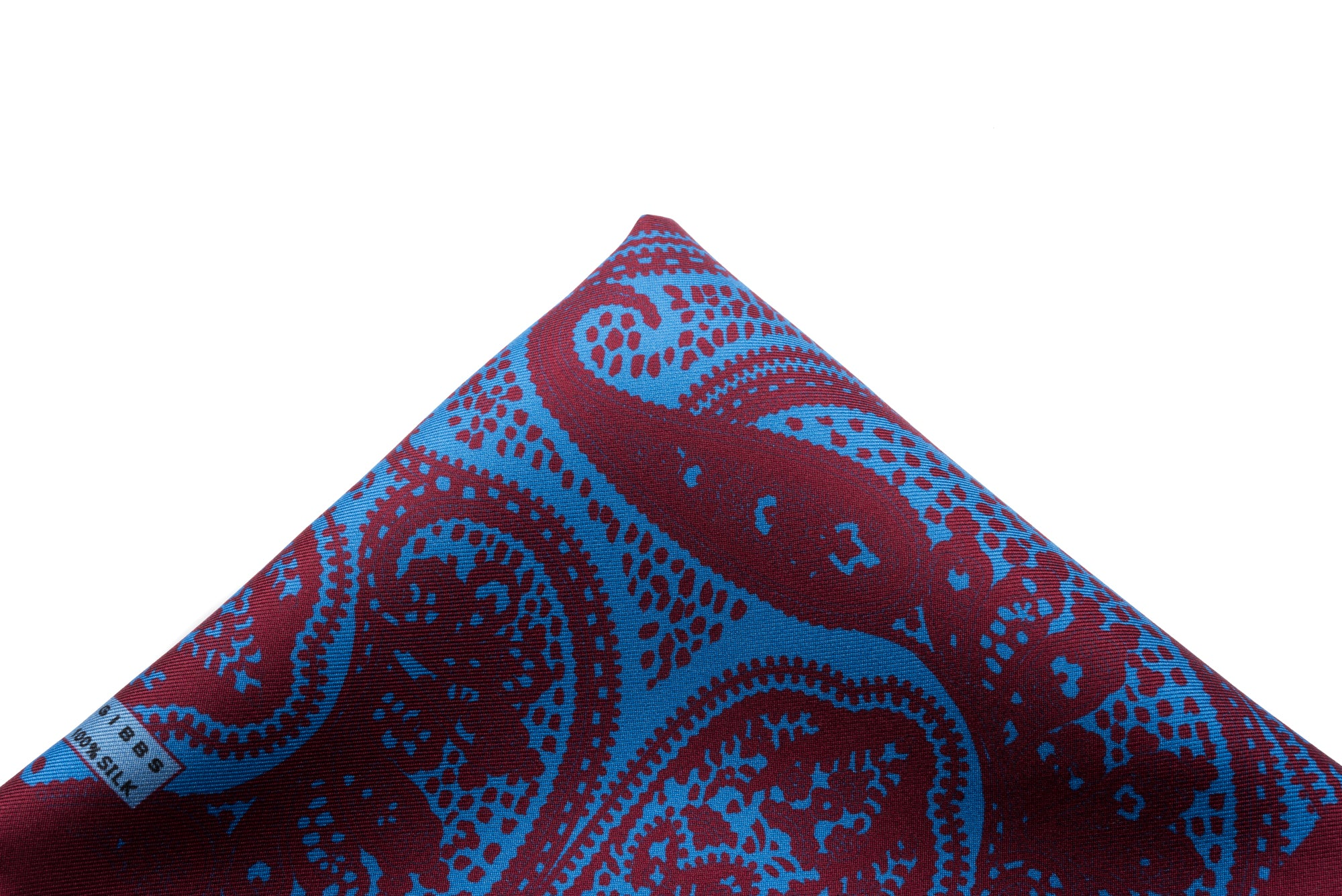 Pocket Square Blue and Maroon Paisley
