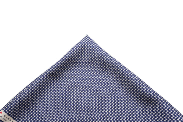Pocket Square Navy - White Micro Houndstooth