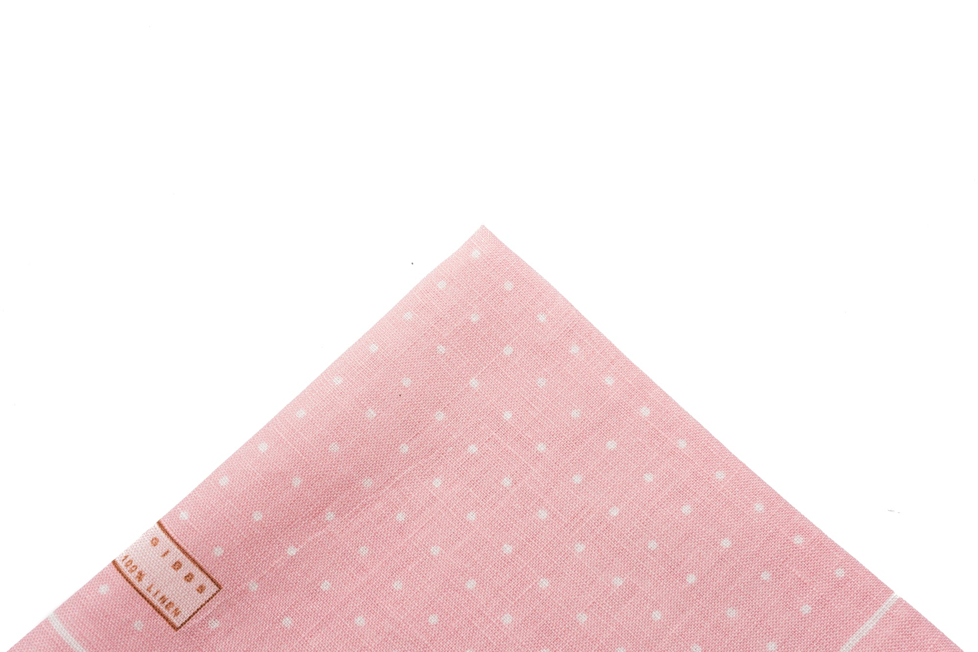 Pocket Square Pink Linen Dot