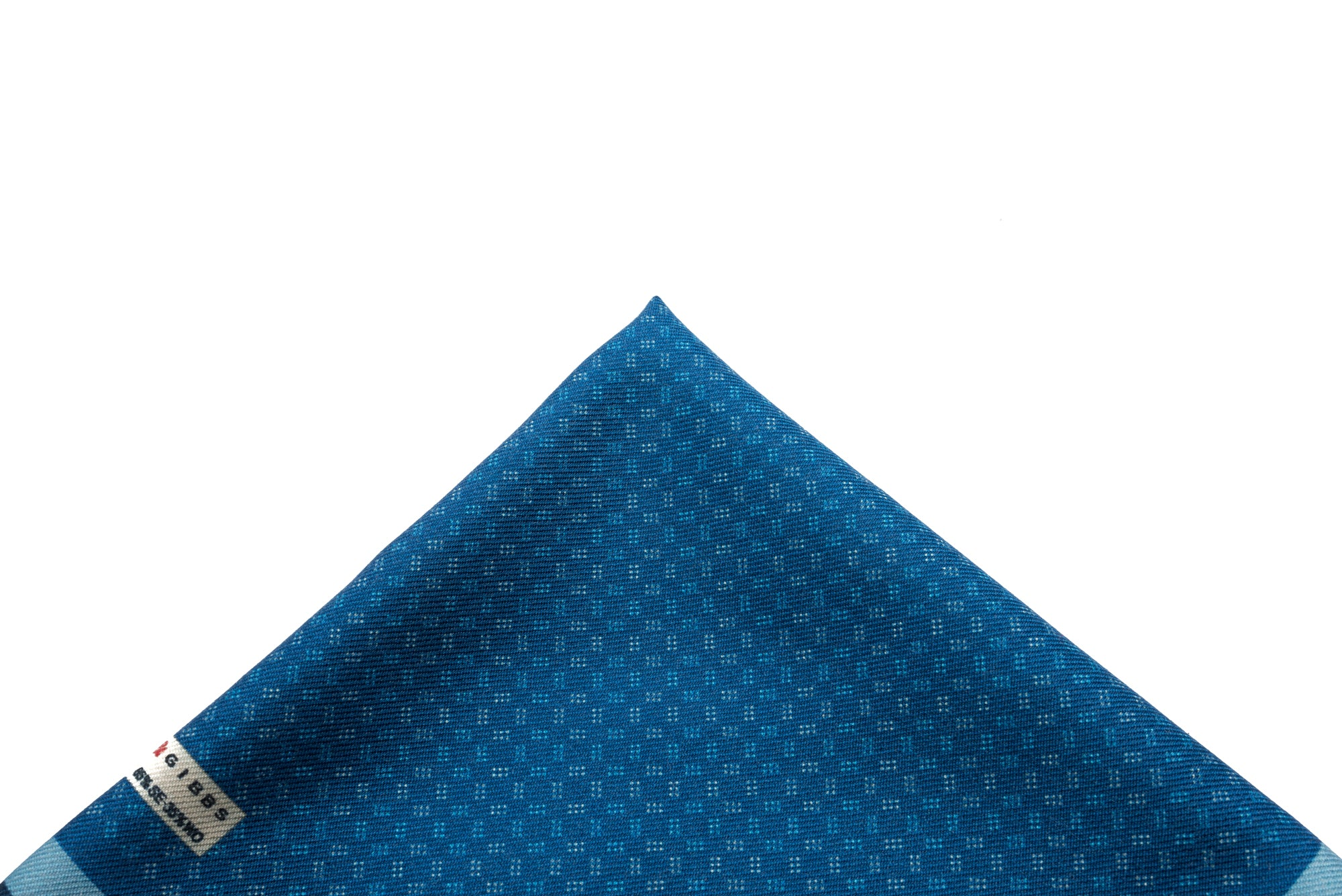 Pocket Square Blue Pattern