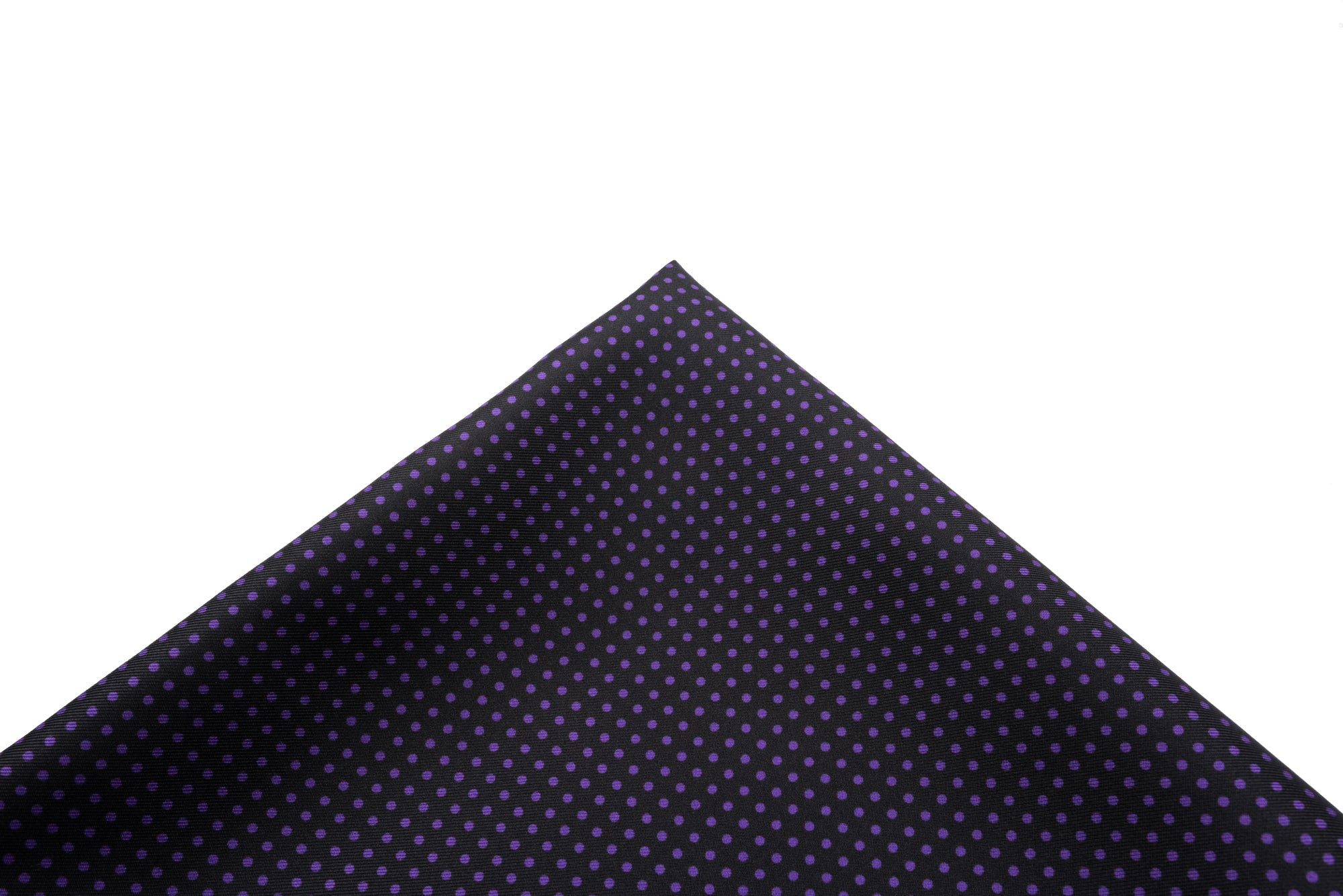 Pocket Square Black - Purple Micro Dot