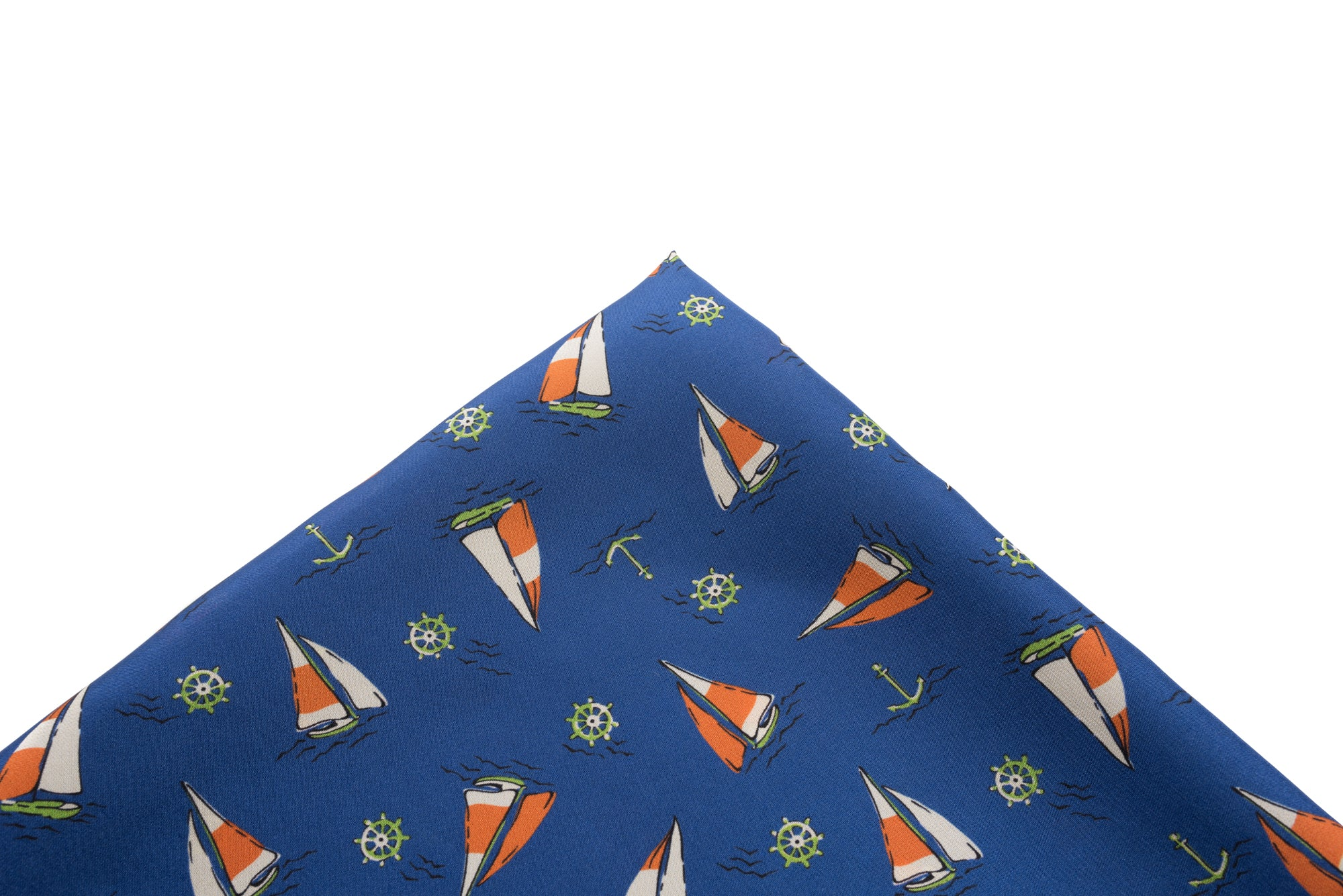 Pocket Square Blue Sailboats