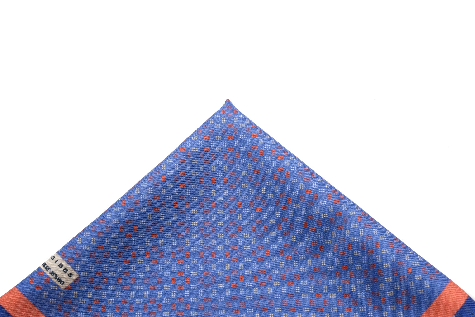 Pocket Square Blue - Orange Pattern