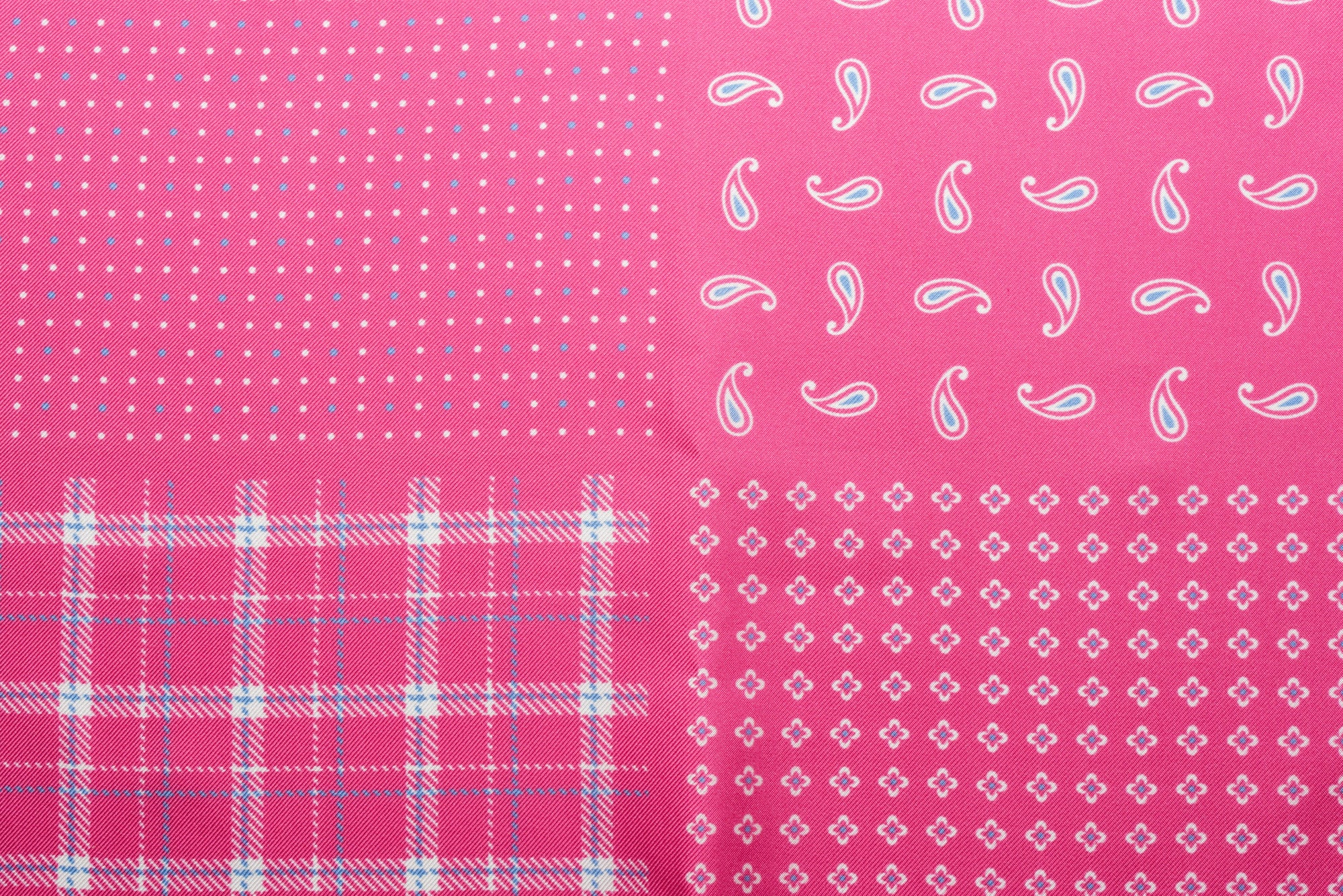 Pocket Square Pink Four Ways