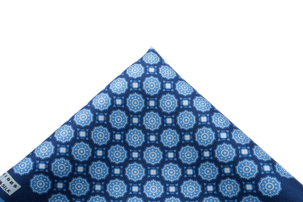 Pocket Square Blues Medallion