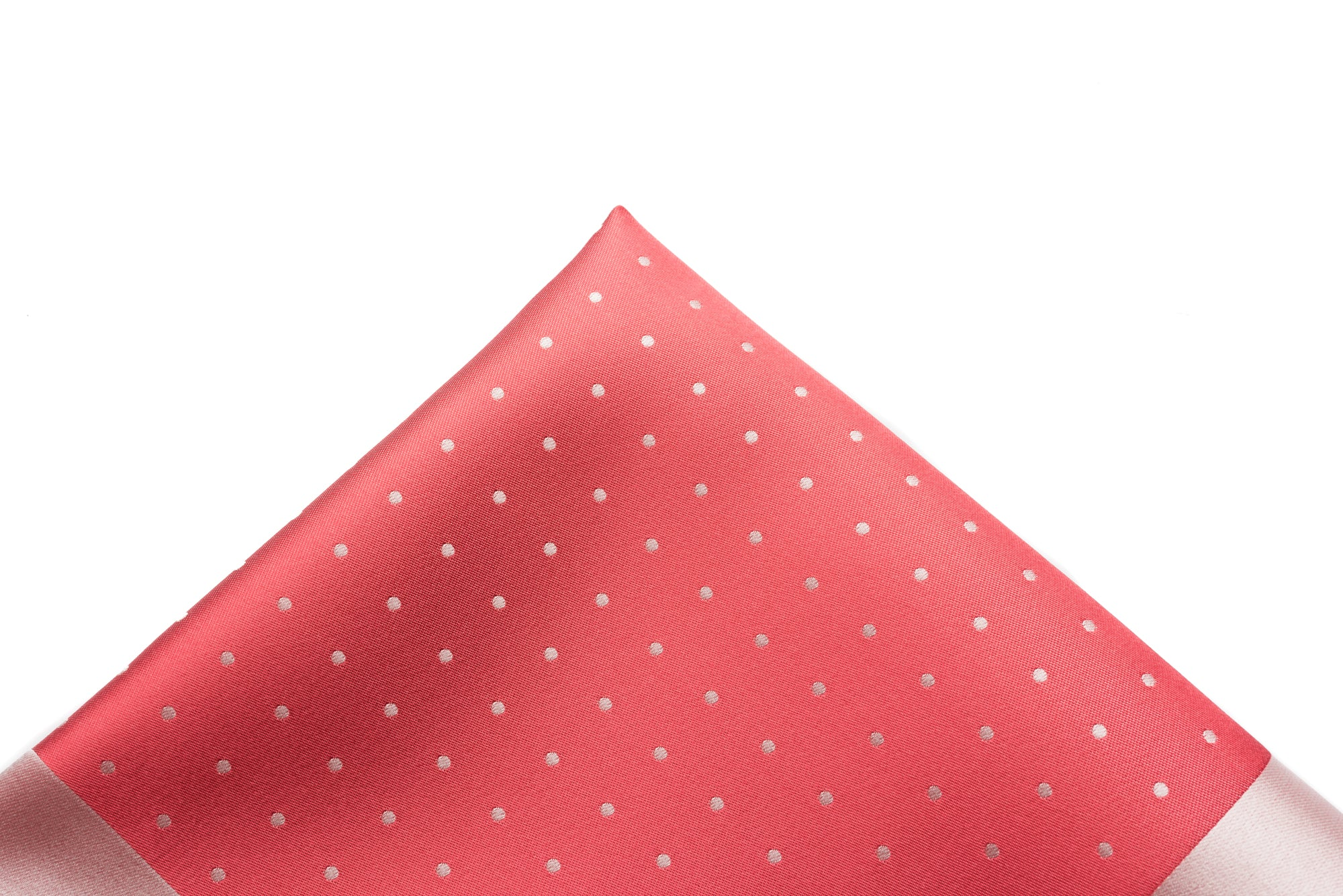 Pocket Square Salmon - Woven Dot