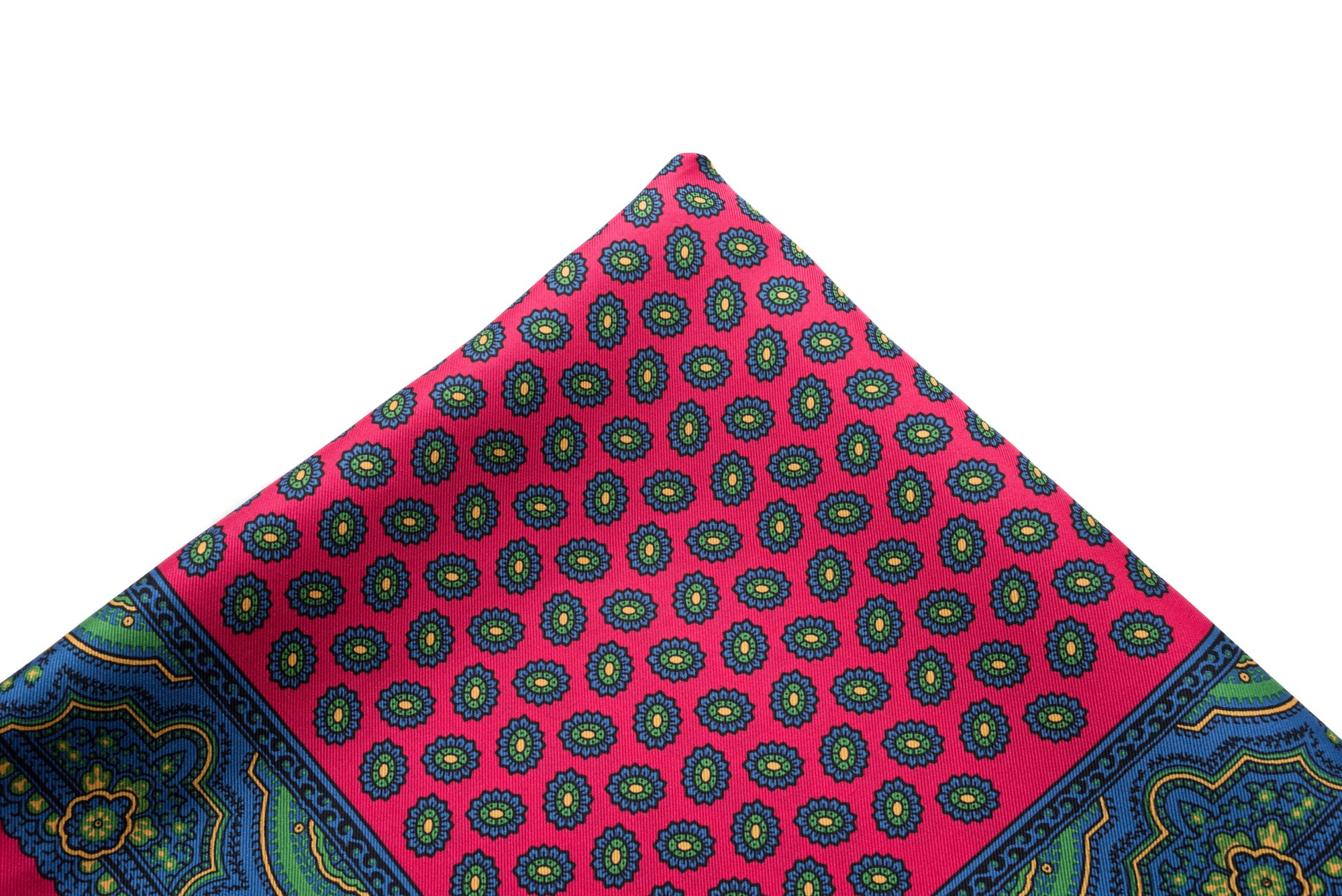 Pocket Square Pink - Blue Neat