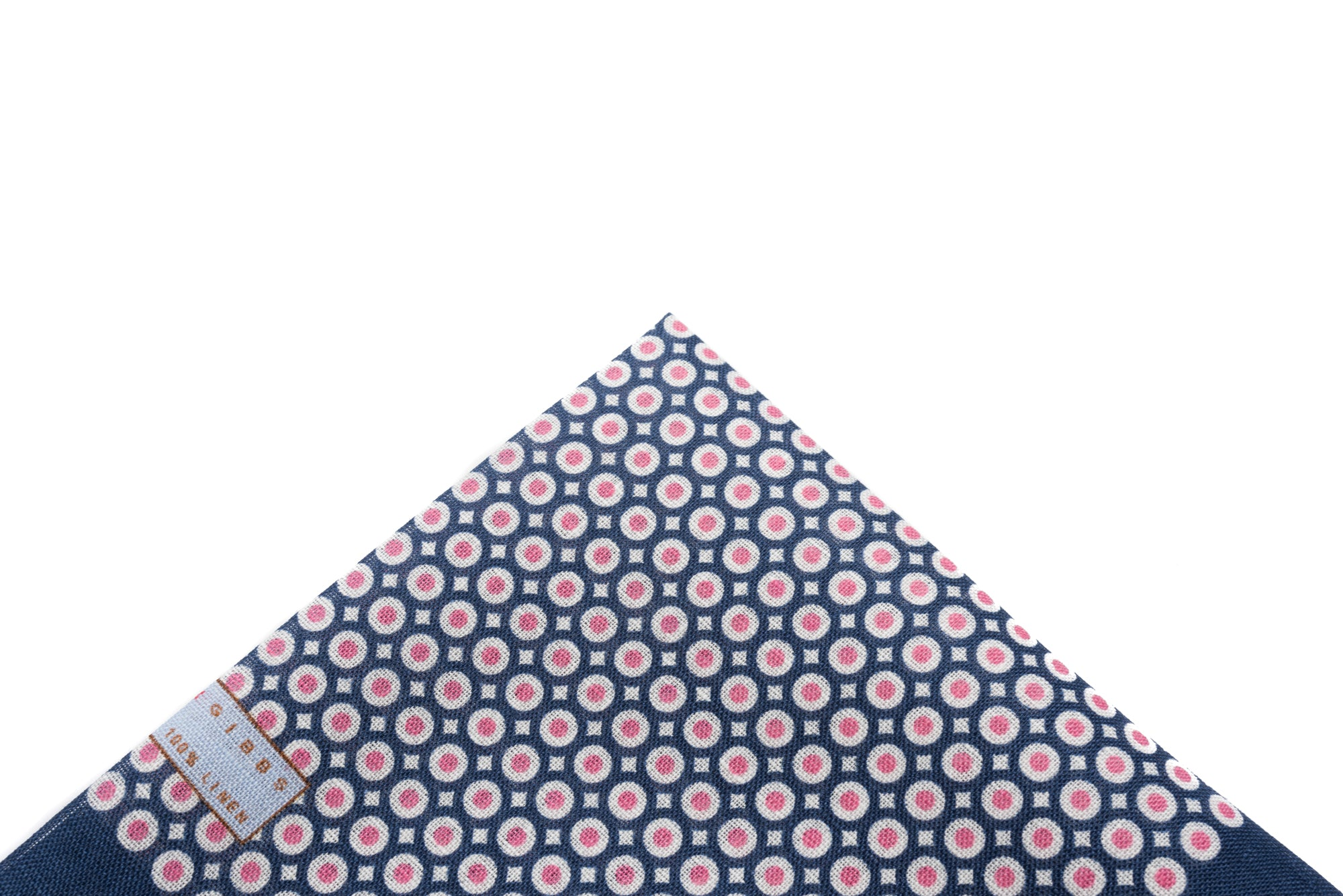 Pocket Square Pink on Navy