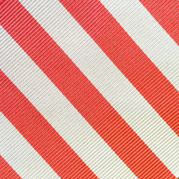 Summer Stripe Coral Bow Tie