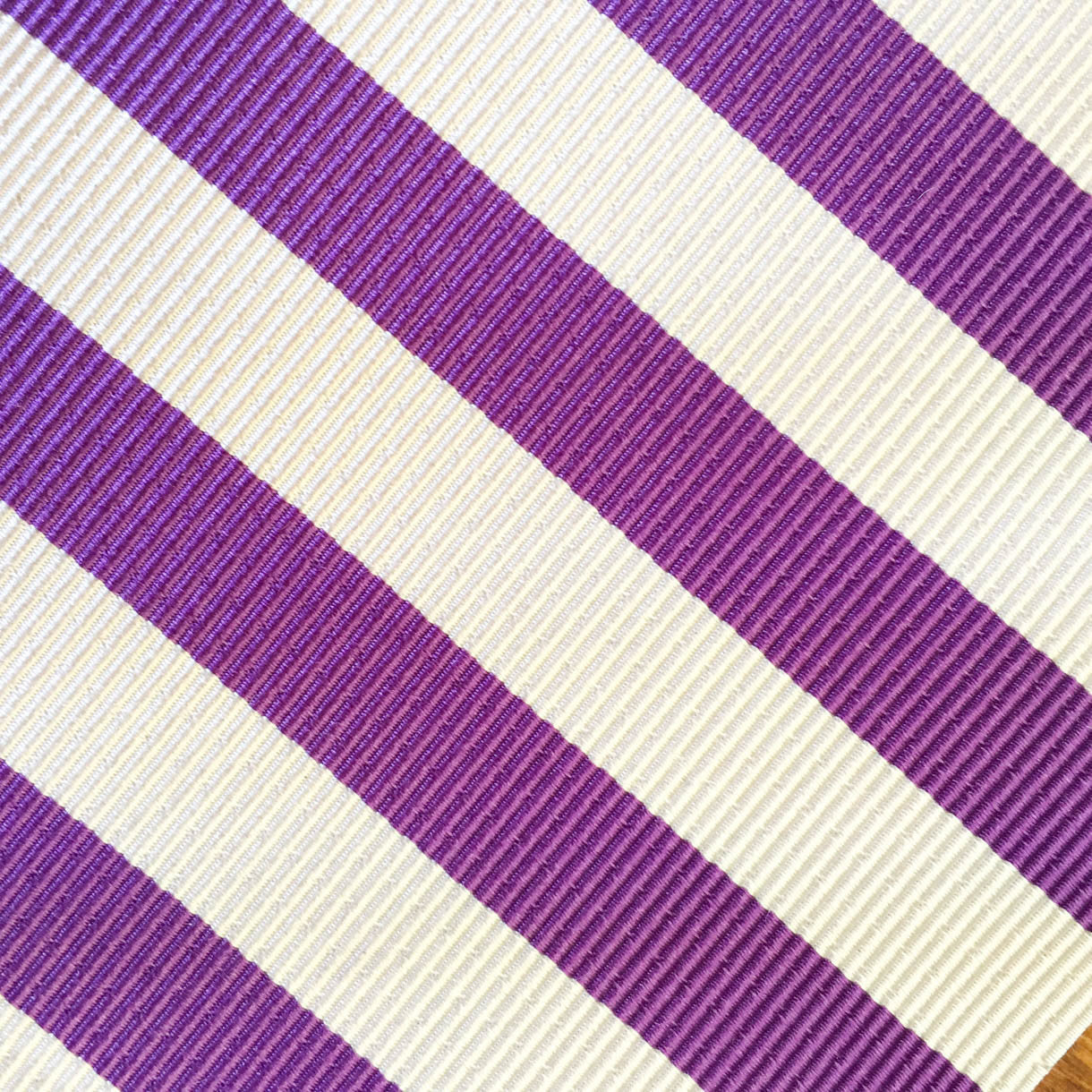 Summer Stripe Purple Custom Neck Tie