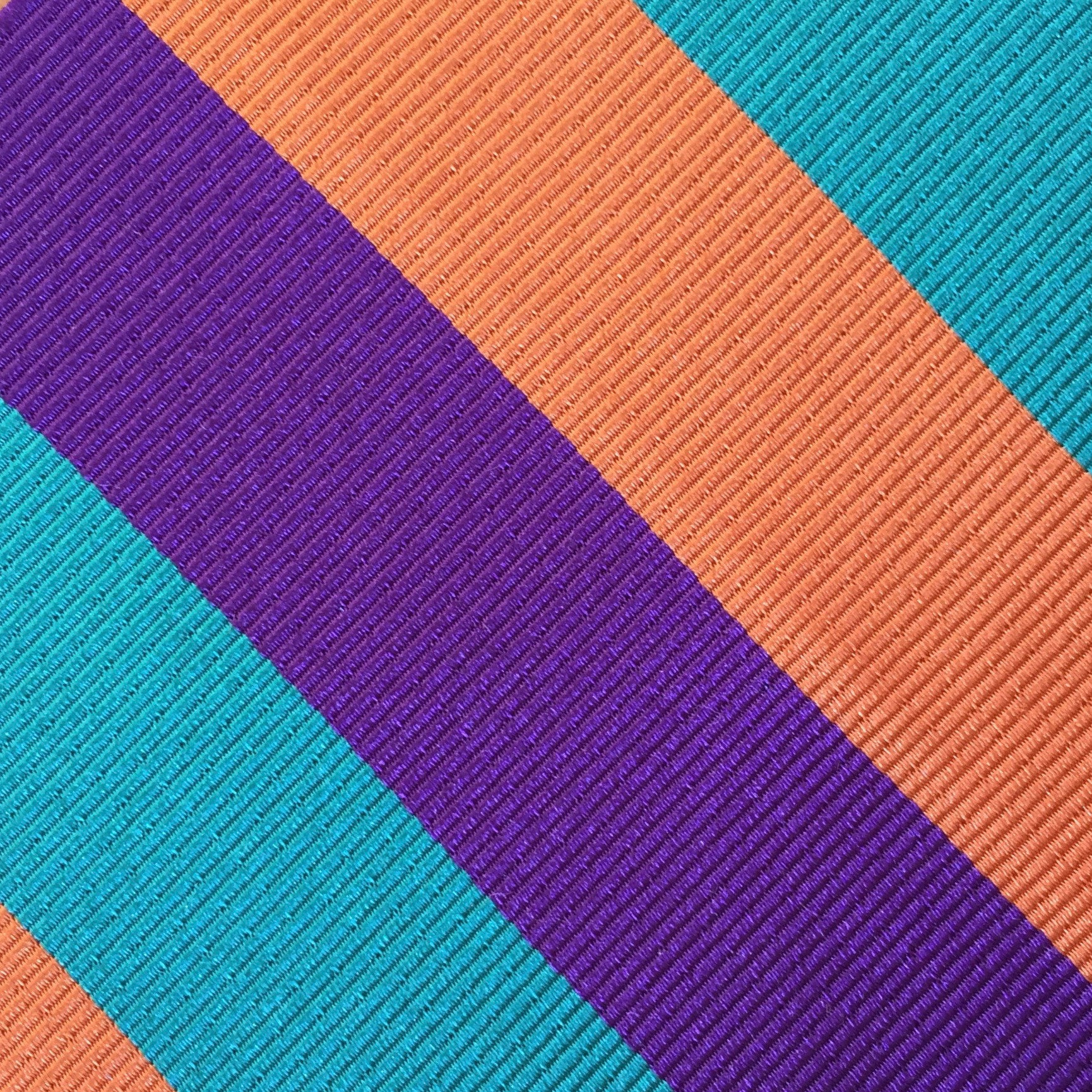 Wide Stripe Aqua/Purple