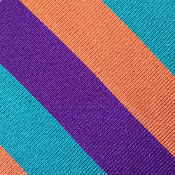 Wide Stripe Aqua/Purple Custom Neck Tie