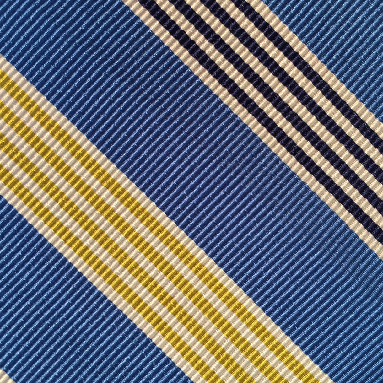 Wide Stripe Navy/Gold/Black Custom Neck Tie