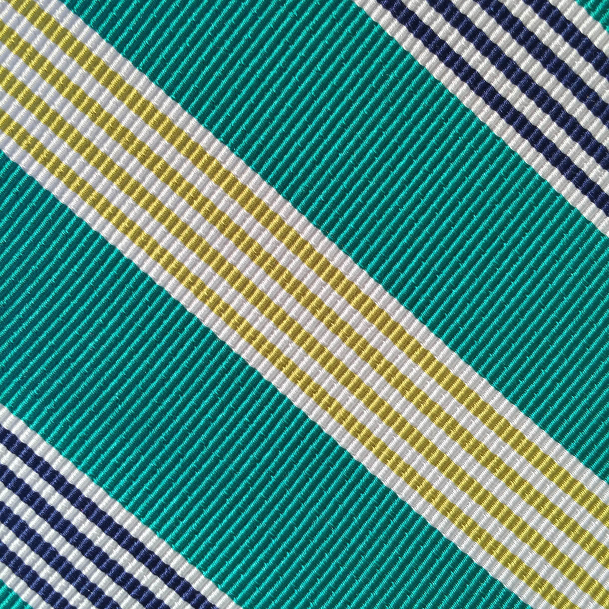 Wide Stripe Teal/Gold Custom Neck Tie