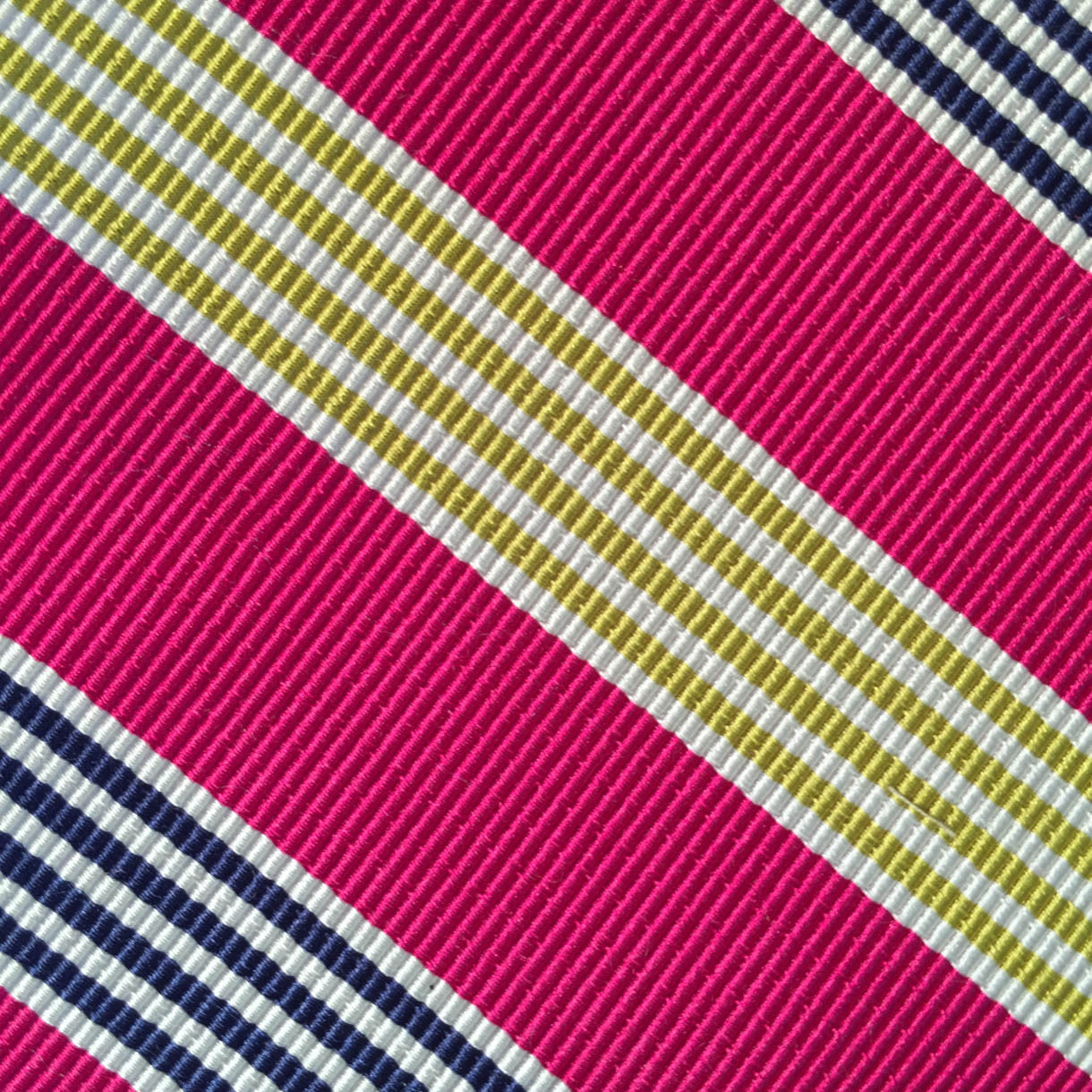 Wide Stripe Pink/Navy/Gold Custom Neck Tie