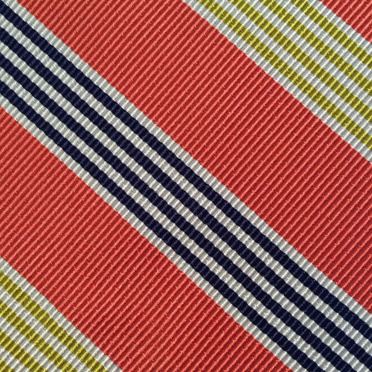 Woven Stripe Orange/Navy/Gold