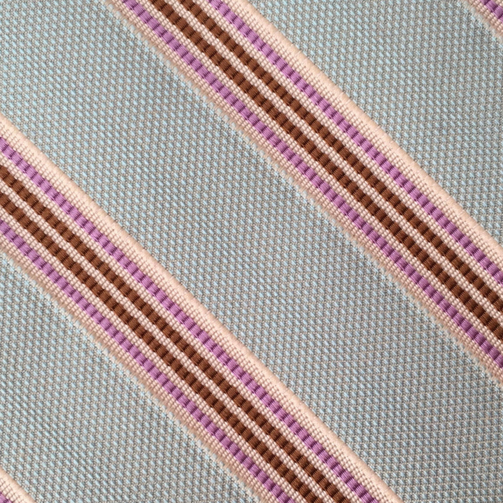 Woven Stripe Gray/Pink Custom Neck Tie
