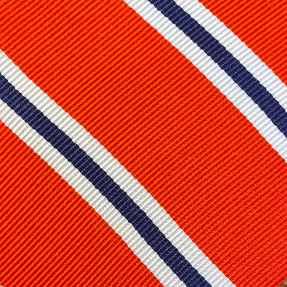 Wide Stripe Coral/Navy