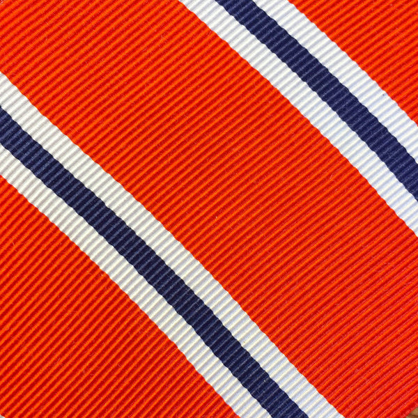 Wide Stripe Coral/Navy Custom Neck Tie
