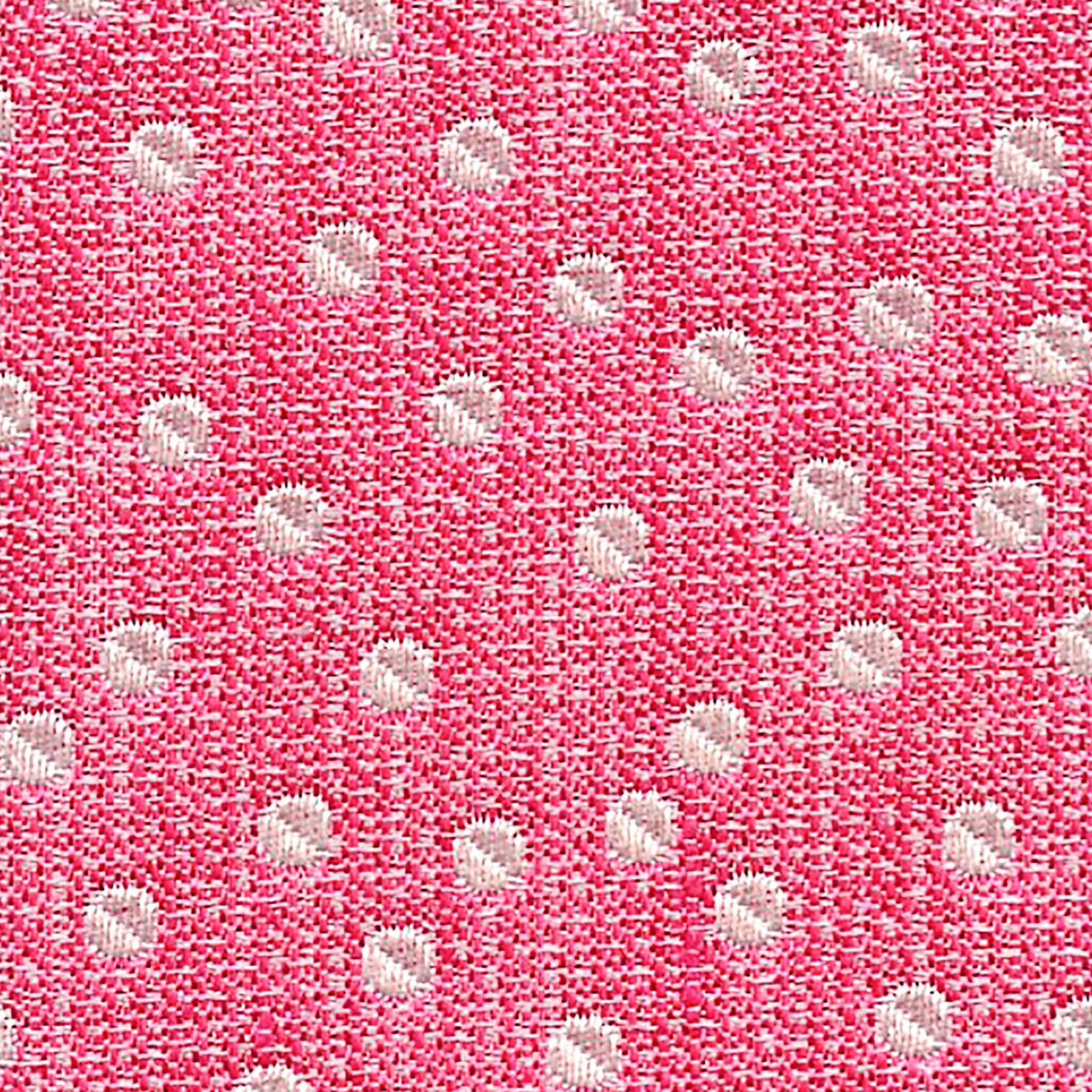 Polka Dot Pink/Silver Custom Neck Tie