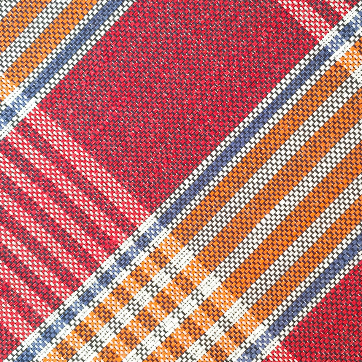 Plaid Red/Orange Custom Neck Tie