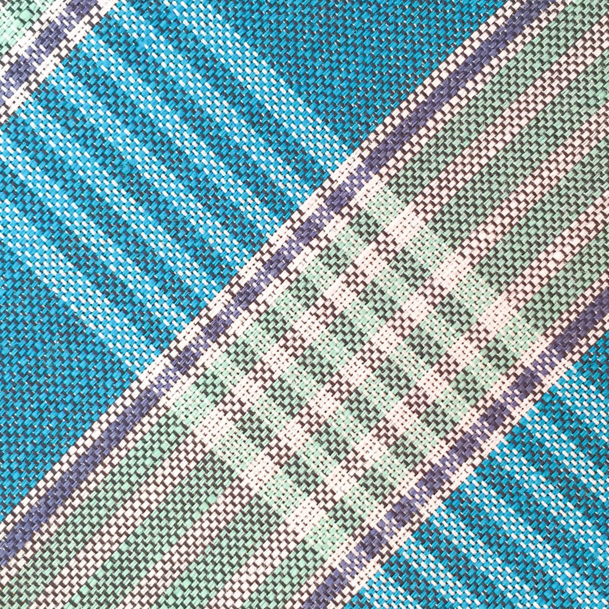 Plaid Teal/Gray Custom Neck Tie