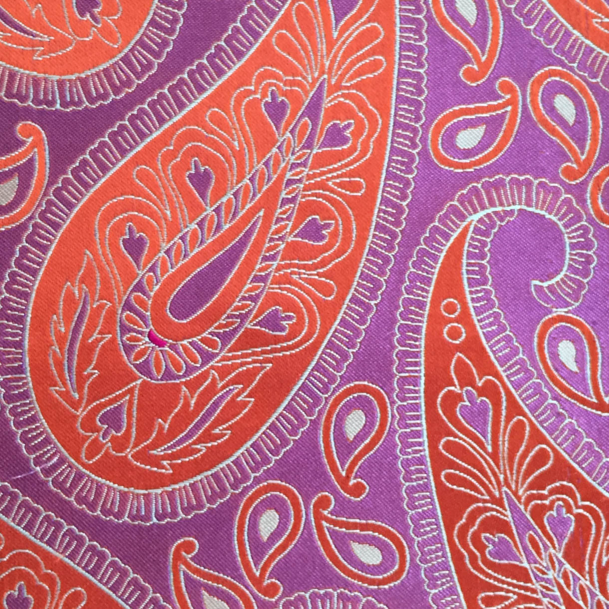Paisley Purple/Red Custom Neck Tie
