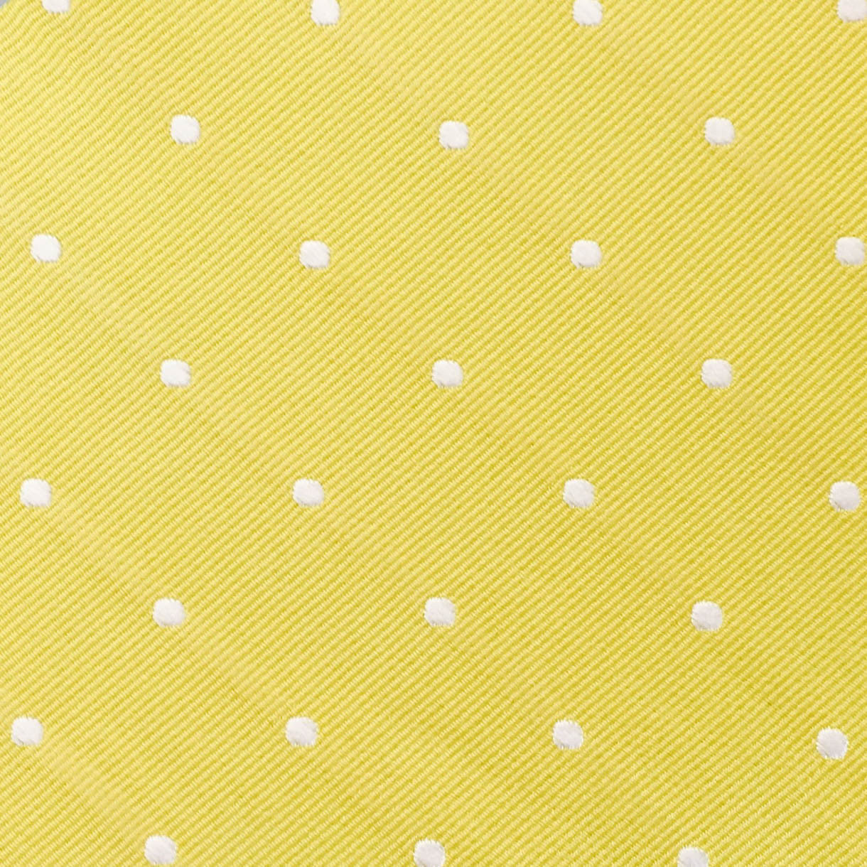 Wide Polka Dot Yellow Custom Neck Tie