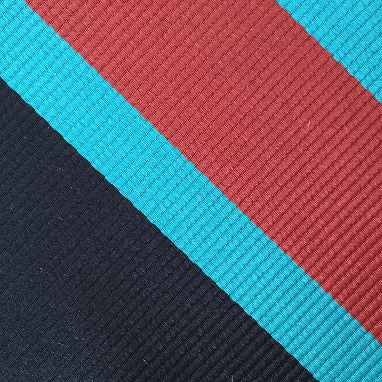 Navy/Teal/Red Stripe Custom Neck Tie