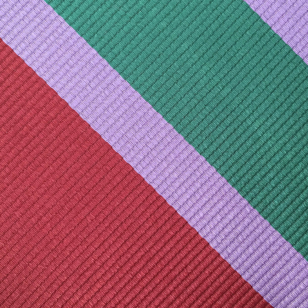 Red/Lavender/Green Stripe Custom Neck Tie