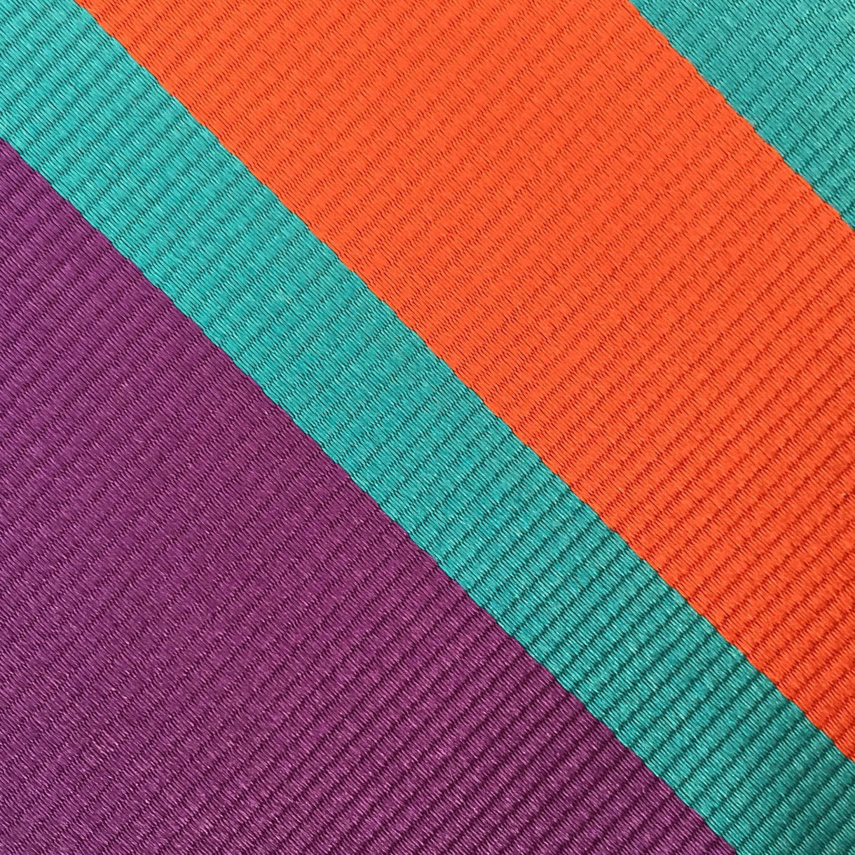 Fuchsia/Teal/Coral Stripe Custom Neck Tie