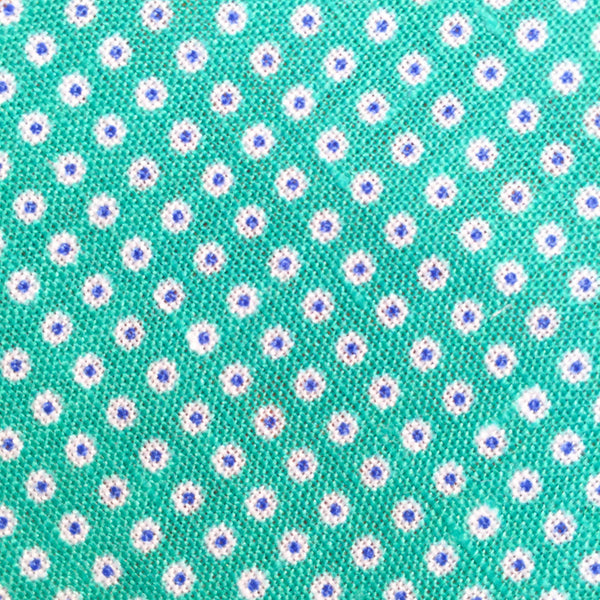 Teal/Pink Polka Dot Custom Neck Tie
