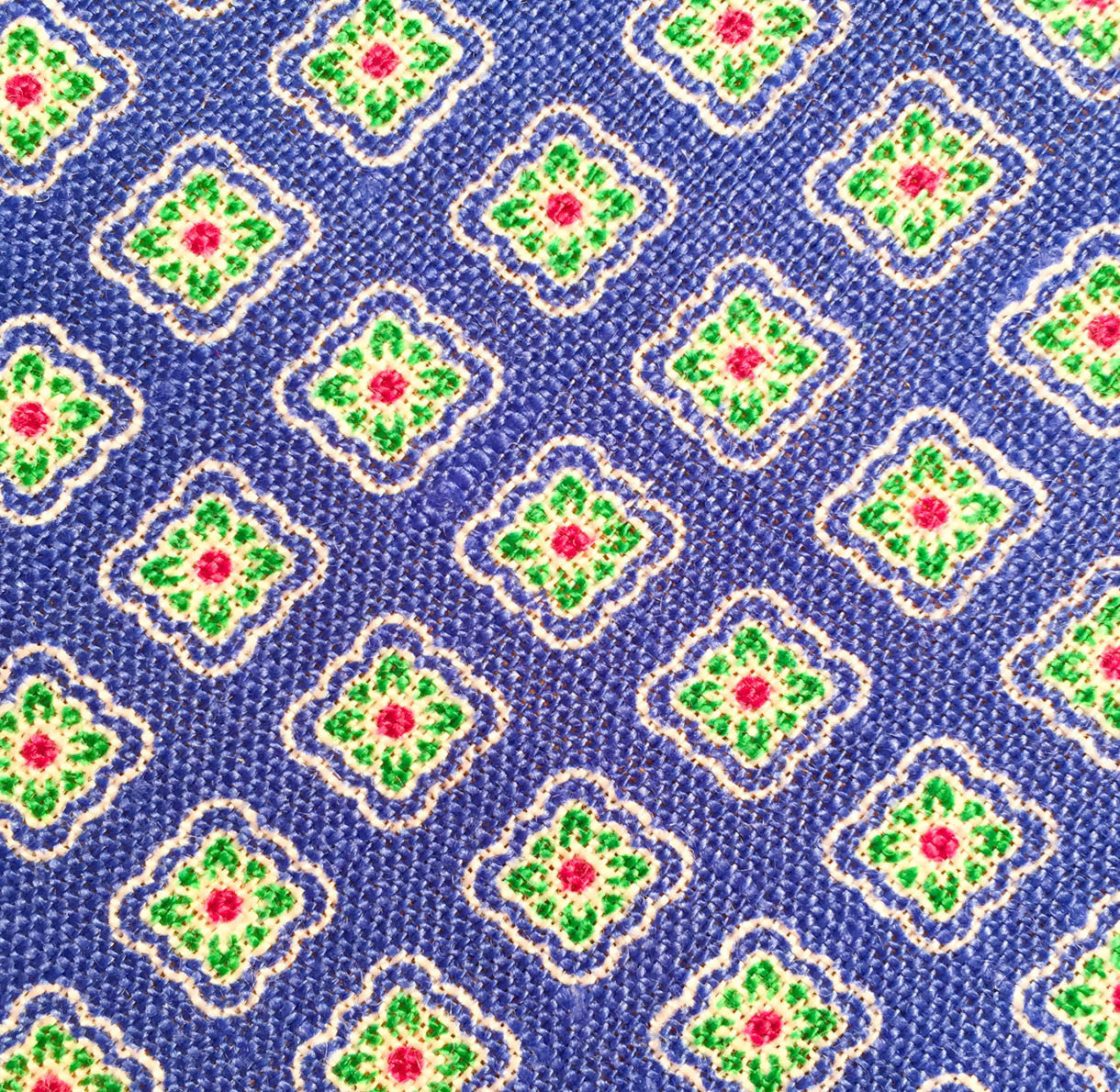 Purple/Green Pattern Custom Neck Tie