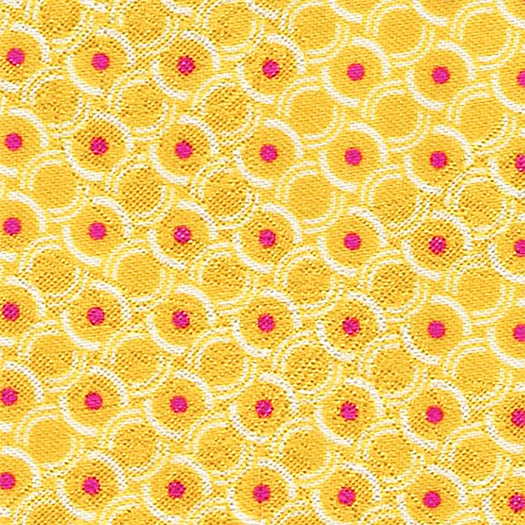 Yellow Circle Pattern Custom Neck Tie