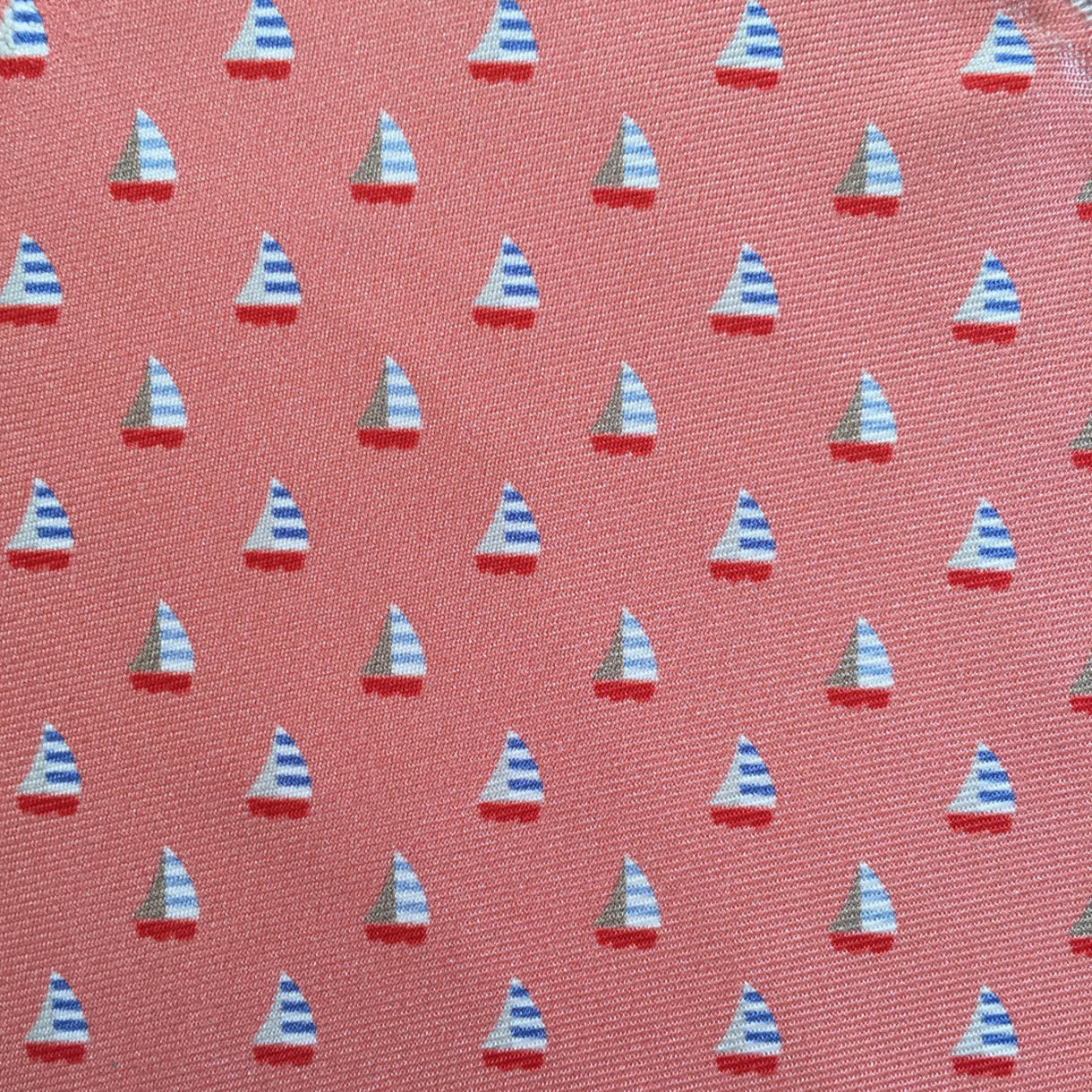 Red Sailboat Custom Neck Tie