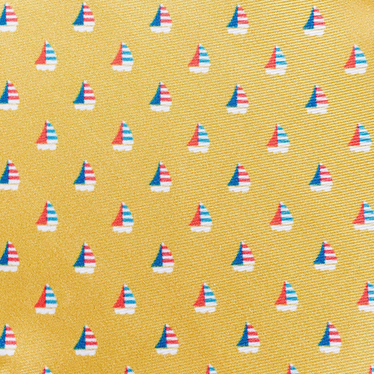Yellow Sailboat Custom Neck Tie