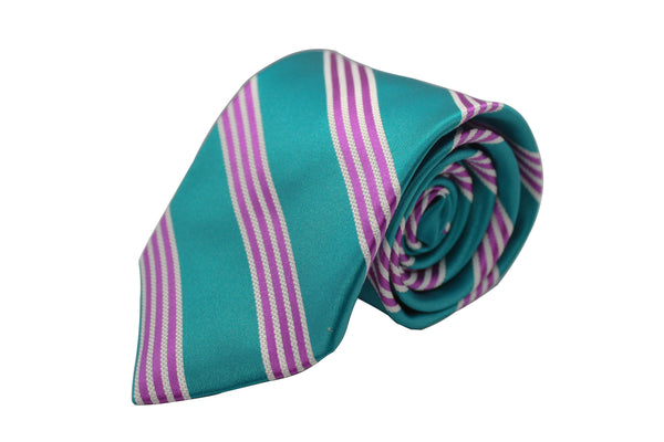 Teal with Purple and White Stripe