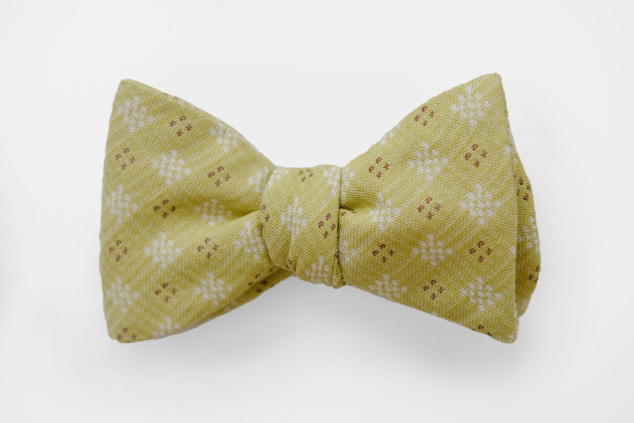 Yellow/Brown Pattern Bow Tie