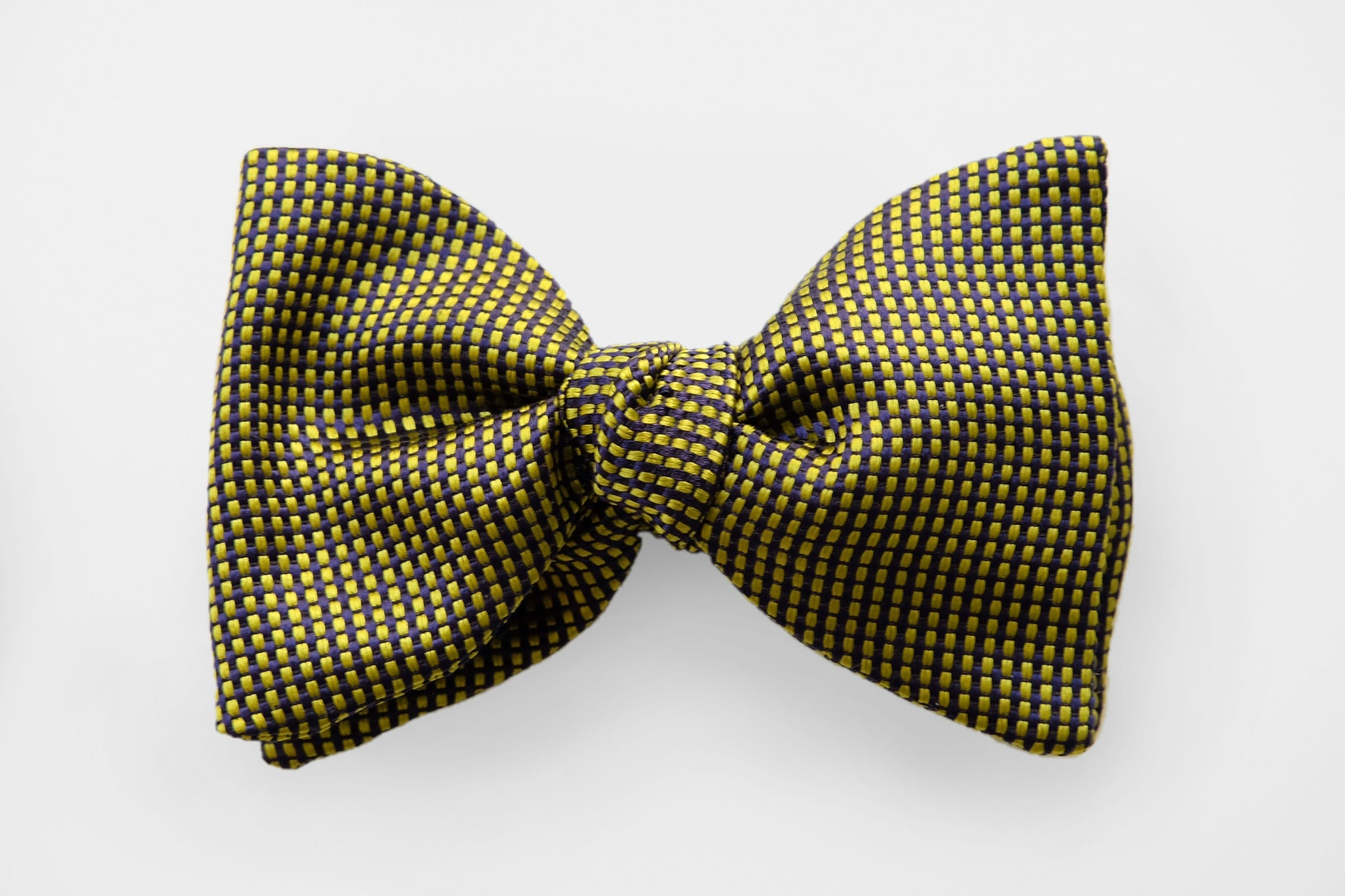 Lime Green/Black Textured Bow Tie