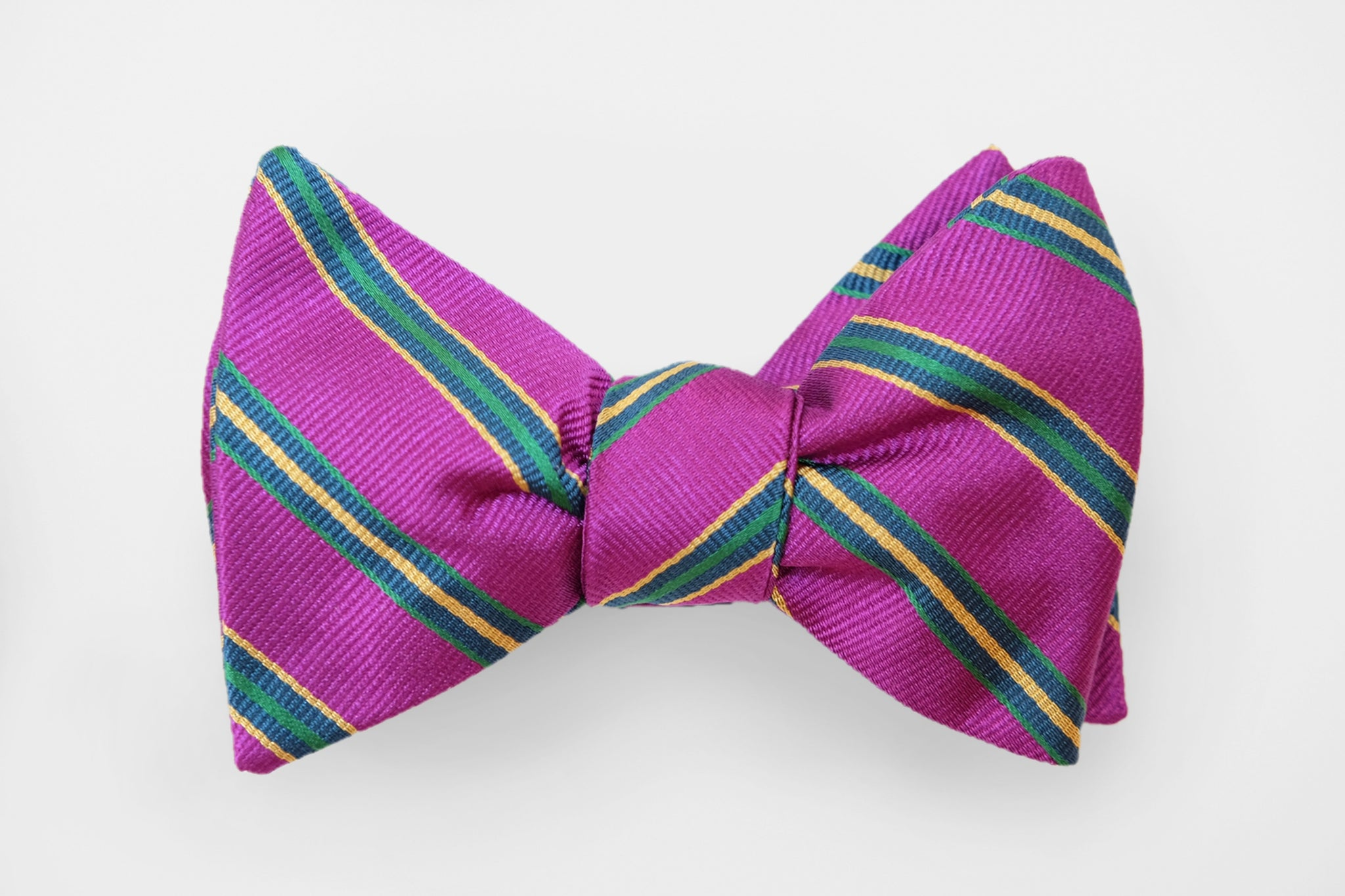 Purple/Green Stripe Bow Tie