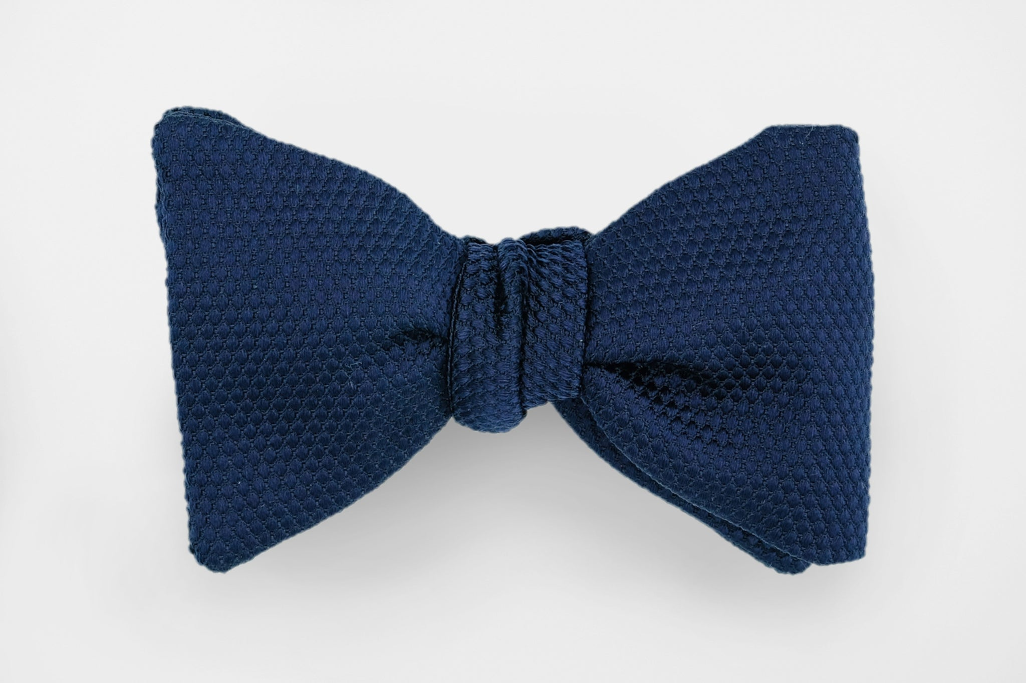Navy Textured Solid Bow Tie