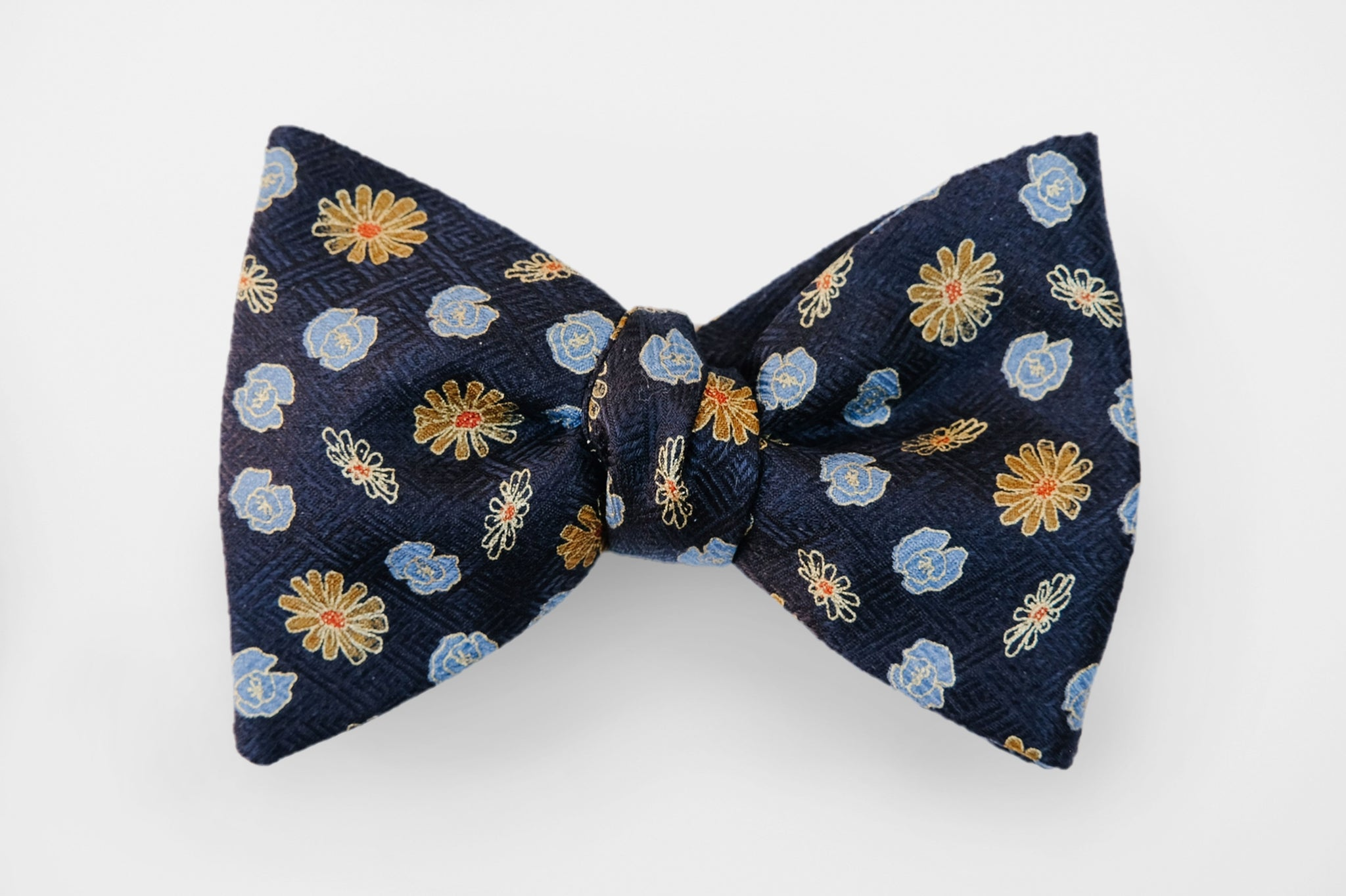 Black/Gold Printed Bow Tie