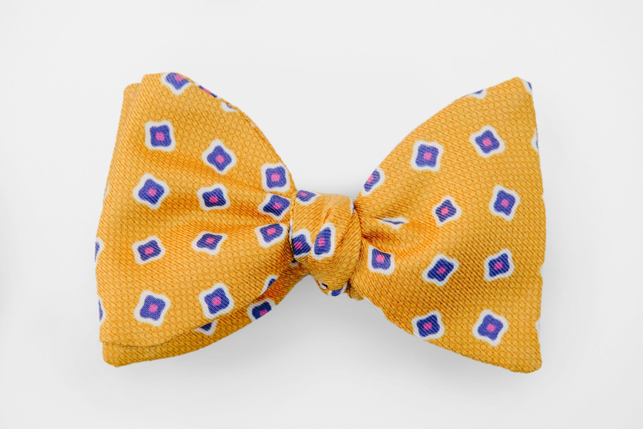 Yellow Small Neat Flower Bow Tie